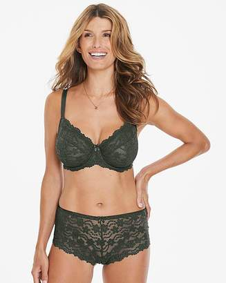 Pretty Secrets Daisy Lace Full Cup Wired Khaki Bra
