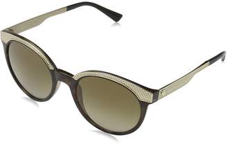 Versace Womens Metal Mesh Collection Sunglasses (VE4330) /Brown Plastic - Non-Polarized