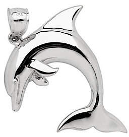 QVC Sterling 2-D Dolphin Pendant