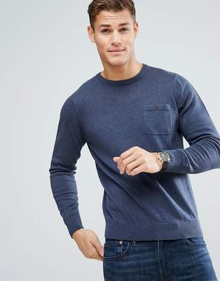 Ben Sherman Long Sleeve Pocket Knit Sweater