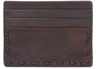 John Varvatos Marble Stained Leather Card Case