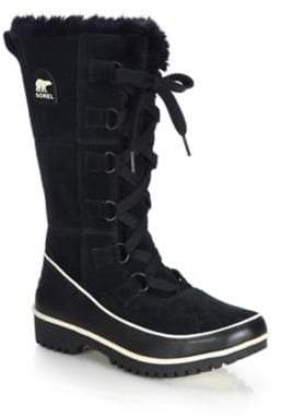 Sorel Tivoli High II Suede, Leather and Faux Fur All-Weather Boots