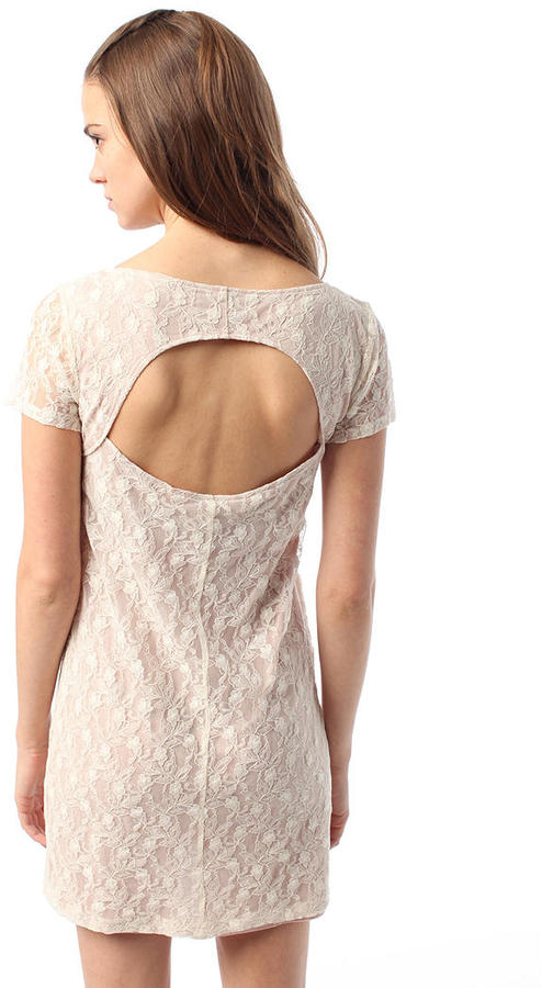 Pins and Needles Lace Open Back Shift Dress