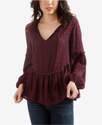 Lucky Brand Ruffled Peasant Top