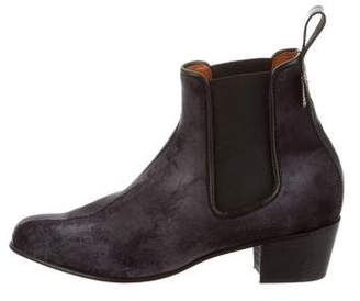 Penelope Chilvers Velvet Round-Toe Ankle Boots