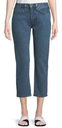Levi's Slim Cropped Straight-Leg 2-Tone Jeans