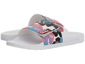Hunter Floral Stripe Adjustable Slide Women's Slide Shoes