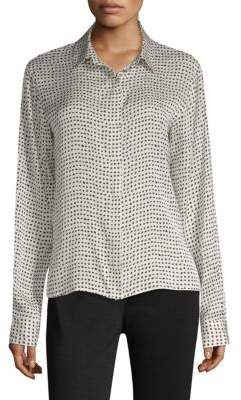 Donna Karan Silk Button-Down Blouse