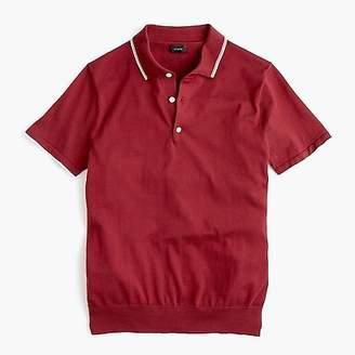 J.Crew Pima cotton short-sleeve tipped sweater polo
