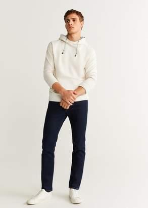 MANGO MAN - Kangaroo pocket hoodie off white - XS - Men