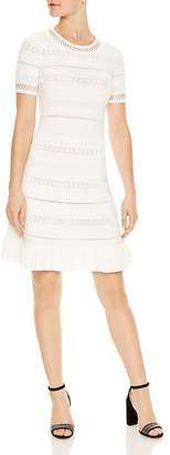 Sandro Kady Eyelet-Detail A-Line Dress