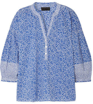 Hatch Olivia Printed Cotton-voile Blouse - Blue