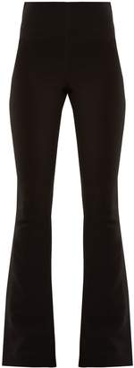 Awake Jamiroquai slit-hem kick-flare woven trousers