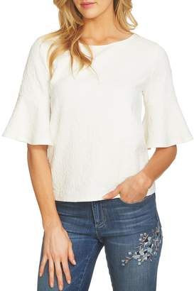CeCe Paisley Jacquared Knit Top