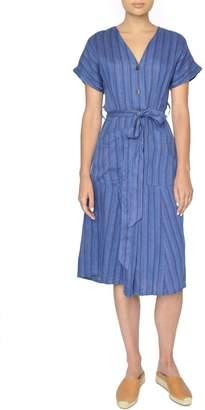 4our Dreamers Blue Linen Dress