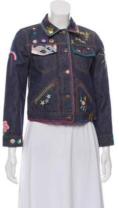 Marc Jacobs Embroidered Denim Jacket w/ Tags
