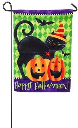 Evergreen Flag & Garden Halloween Cat 2-Sided Polyester 1'6 x 1 ft. Garden Flag