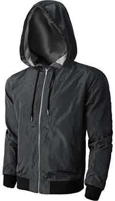 K&S Hat and Beyond KS Mens Windbreaker Active Lightweight Jackets Casual Slim Fit Sweatshirts 1KSA0020