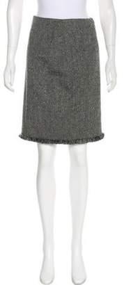 Christian Dior Wool Bouclé Skirt