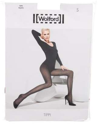 Wolford Tippi Patterned Tights w/ Tags