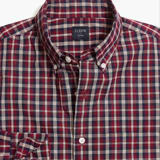 Mercantile Tall slim-fit flex washed shirt in plaid