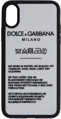 Dolce & Gabbana White Milano iPhone X Case