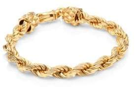 Emanuele Bicocchi 24K Yellow Goldplated& Sterling Silver Rope Chain Bracelet