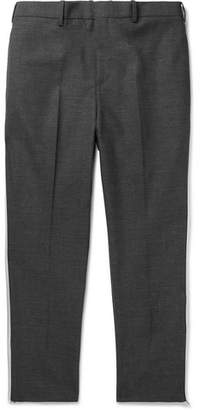 Neil Barrett Slim-Fit Tapered Cropped Striped Woven Trousers