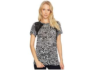 MICHAEL Michael Kors Big Cat Lace Crew Tee Women's T Shirt