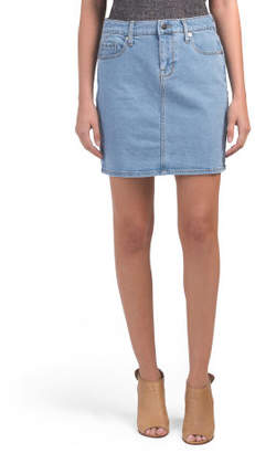 Juniors Denim Mini Skirt