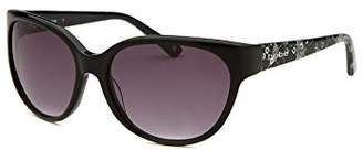 Bebe Bb7079-001- Women's Foxy Round Black Sunglasses