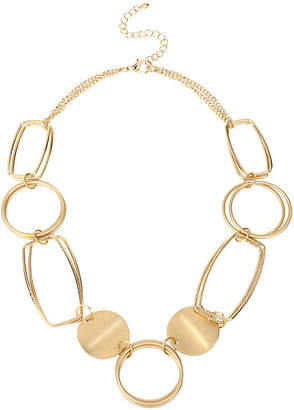 Bold Elements Gold-Tone Disc and Link Necklace