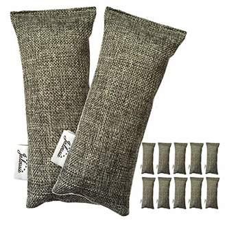 Jalousie 12 Packs 100g Each Mini Bamboo Charcoal Bags Natural Air Purifier