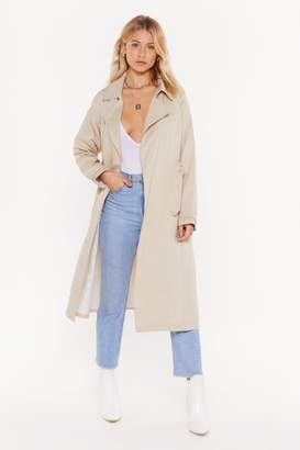 Nasty Gal Save It For a Rainy Day Trench Coat