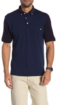 Thomas Dean Colorblock Short Sleeve Polo