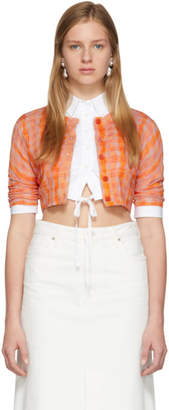 Altuzarra Orange Cropped Cardigan