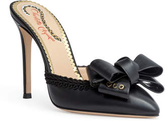 Charlotte Olympia Black 100 leather mules