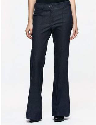 Calvin Klein platinum denim flared pants