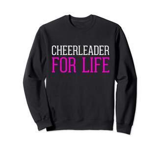 Cheerleader Gifts Usa CHEERLEADER FOR LIFE! Women Girls Teens Gift Sweatshirt