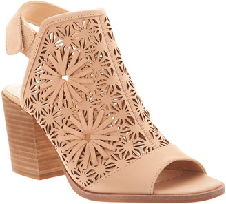 Vince Camuto Nubuck Stacked Heeled Sandals - Kalison