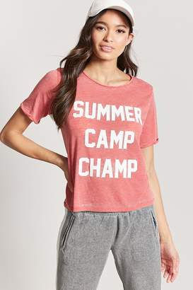 Forever 21 Summer Camp Champ Graphic Tee