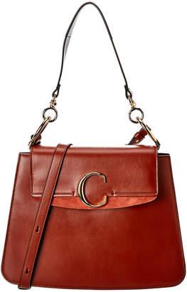 Chloé C Medium Leather & Suede Shoulder Bag