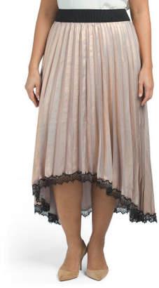 Plus Woven Maxi Skirt