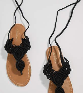 Park Lane Parklane Crochet Tie Leg Sandals