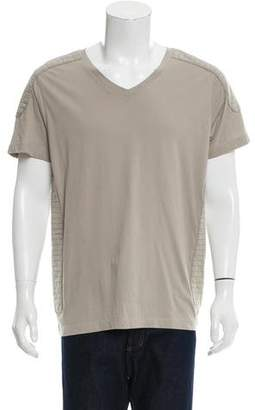Pierre Balmain Short Sleeve Quilt-Accented T-Shirt w/ Tags