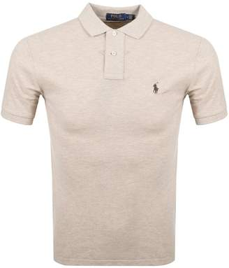 Ralph Lauren Slim Fit Polo T Shirt Beige