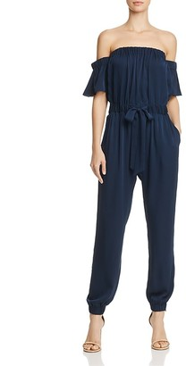 MILLY Maxime Off-the-Shoulder Jumpsuit $595 thestylecure.com