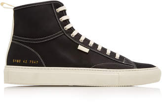 Common Projects Tournament High-Top Nubuck Sneakers