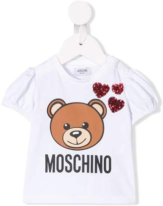 Moschino Kids sequin embroidered toy T-shirt