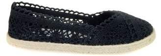 Time and Tru Women's Crochet Slip On Flat